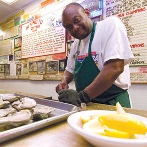 Mr. Willie Brown, Shucker Extraordinaire