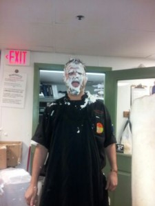 manager pie face